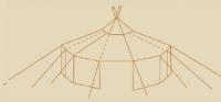 Jurtendach 285g/qm ohne Traufkante