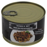 Nudeln mit Bolognesesoße, Vollkonserve, 400 g