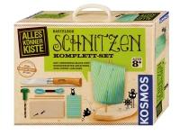 Kosmos Bastelbox SCHNITZEN, Opinel-Kinderschnitzmesser No. 7 Hol