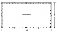 Jurtenplanen (Doppelzeltbahn) 340g/qm