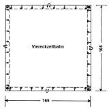 Viereckzeltbahn  285g/qm