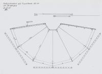 Halbes Jurtendach mit Traufkante  285g/qm