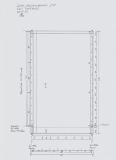 Jurten-Zwischenstückmit Deckleiste und Traufkante 285g/qm