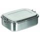 Lunchbox, Edelstahl, ca. 18 x 14 x 6,5 cm