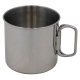 Tasse, Edelstahl, Klappgriffe, ca. 450 ml